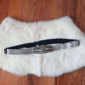 Vintage gun metal stretchy belt